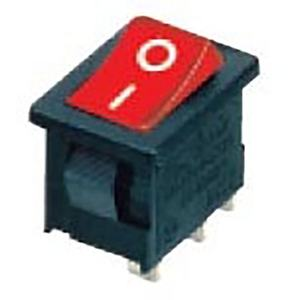 Piccola Barca Rocker Switch DPST ON/OFF Snap in 16A 250V/20A 125V 4 Pin AC interruttore Rosso