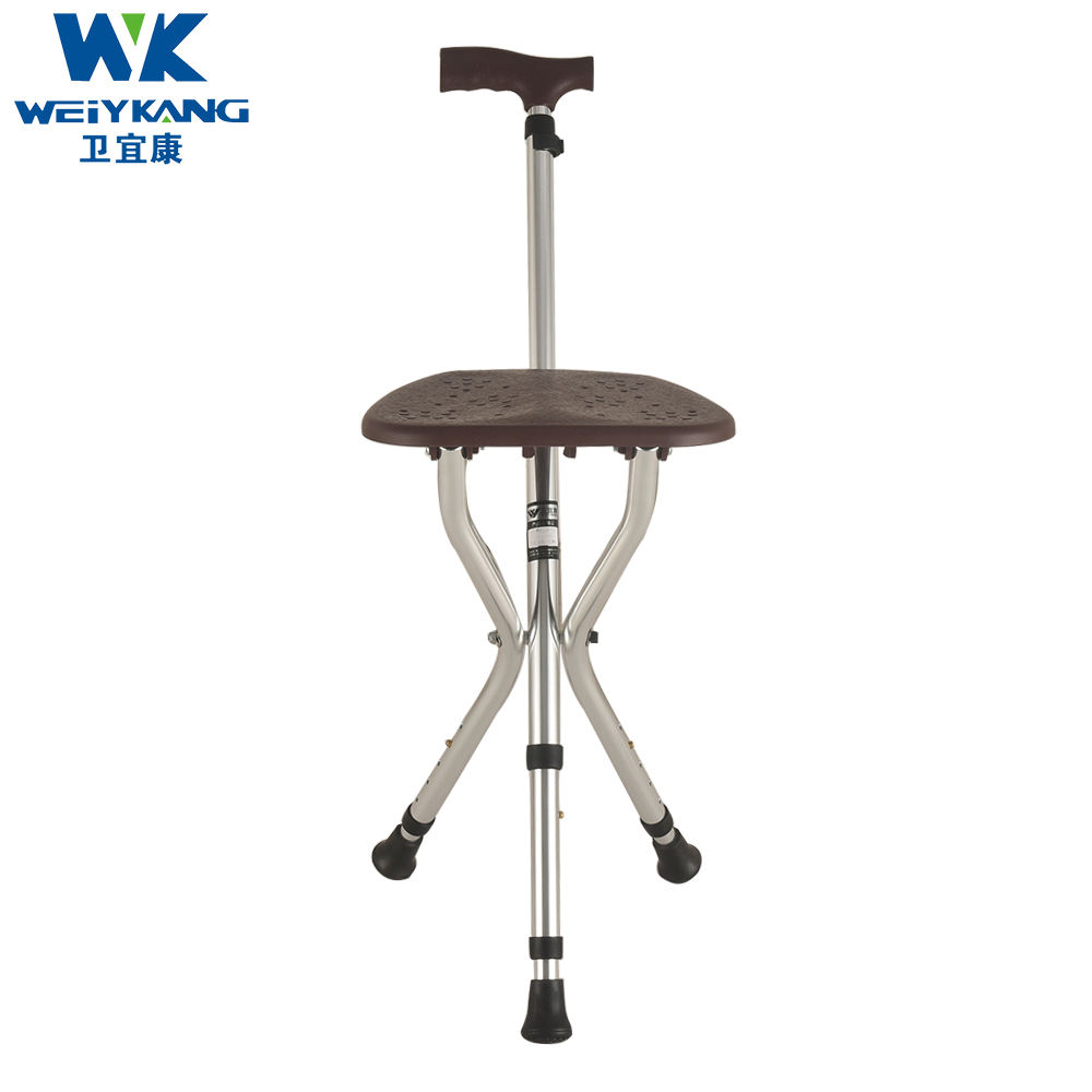 KDB-911 Elderly walking stick with seat chair