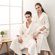 In stock women men couple microfiber towel flannel fleece bathrobe