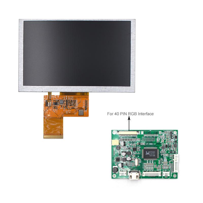 800X480 TFT 5.0 Inch Điều Khiển Màn Hình LCD Cho Màn Hình Hiển Thị HDMI 5 Inch