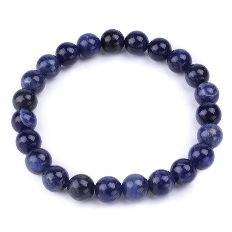 Natural stone jewelry beads Sodalite Plain Rounds stone beads bracelet