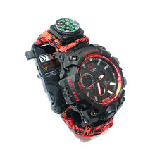 Hot Sale Paracord Accessories Sport Watch, Fashion Reloj Supervivencia Tactical Paracord Watch