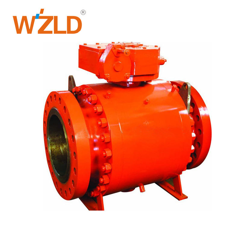 WZLD High pressure Customized Forged steel Trunnion Mounted Ball valve