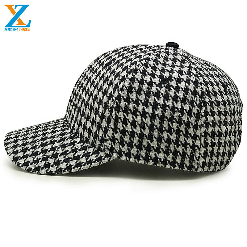 Unstructured short brim six panel baseball cap