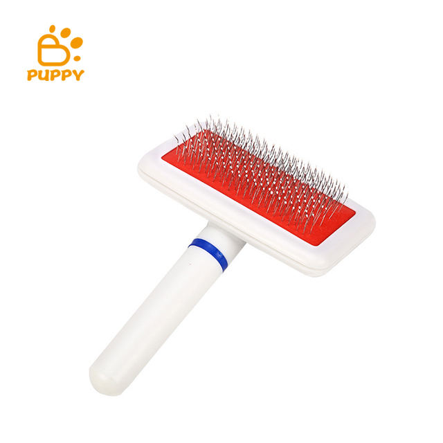 Pet Grooming Spazzola di capelli Pettine Del Cane Auto Pulizia Slicker Nodo Aperto Da Barba Pettine Pet Dog Fur Spargimento Pennello