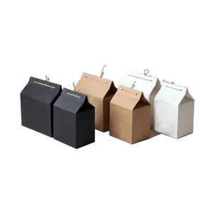 Biodegradable eco recycle custom brown craft paper Kraft package box for food packaging