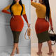 autumn winter Sexy high waist spice bud sexy long sleeve women casual bodycon dresses