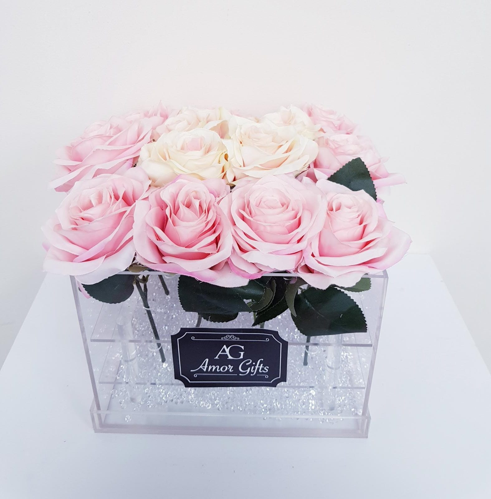 Single Rose Acrylic Just For You Hamper Clear Jewlery Flower Box Flowers Handbouqet Box
