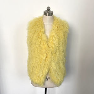 High Quality Ladies Lamb Fur Vest Clothing Female Wool Women Vest