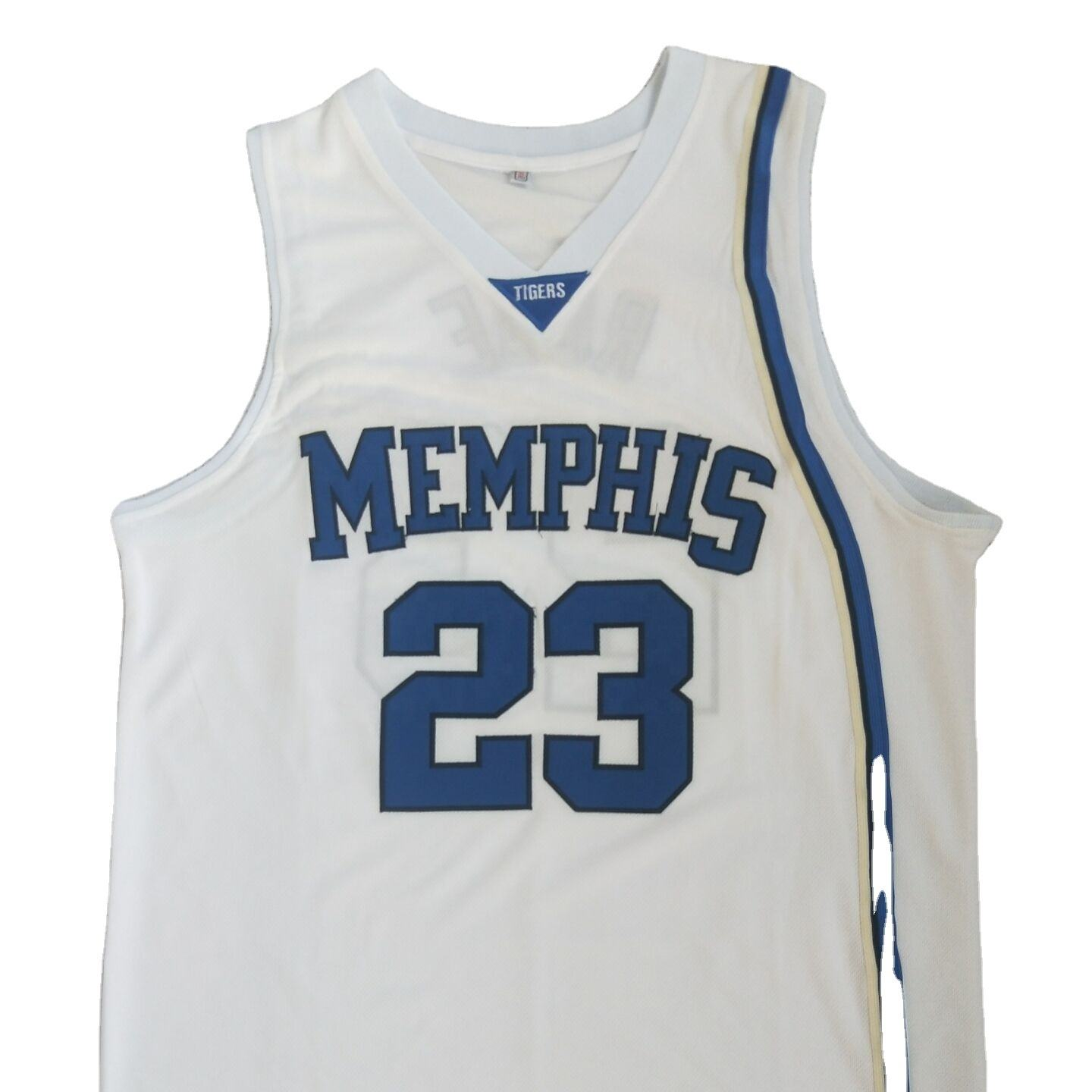 ÉTATS-UNIS Memphis #<span class=keywords><strong>10</strong></span> N C A UNE ROSE blanc jersey uniforme de basket-ball basket-ball de maillot authentique lecteur personnalisé version maillot de basket-ball