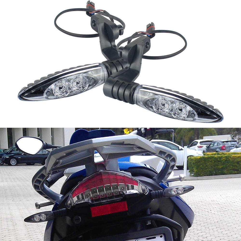Motorcycle Rear Turn Signal Lights Led Indicator Lamp For R1200GS S1000RR HP4 F800GS Black Housing