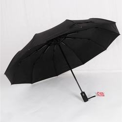 RST men's business umbrella amazon 10 ribs strong windproof big size automatic fold black umbrella