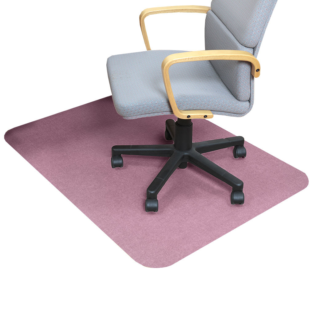 Rectangle loop pile washable protective office chair mat floor