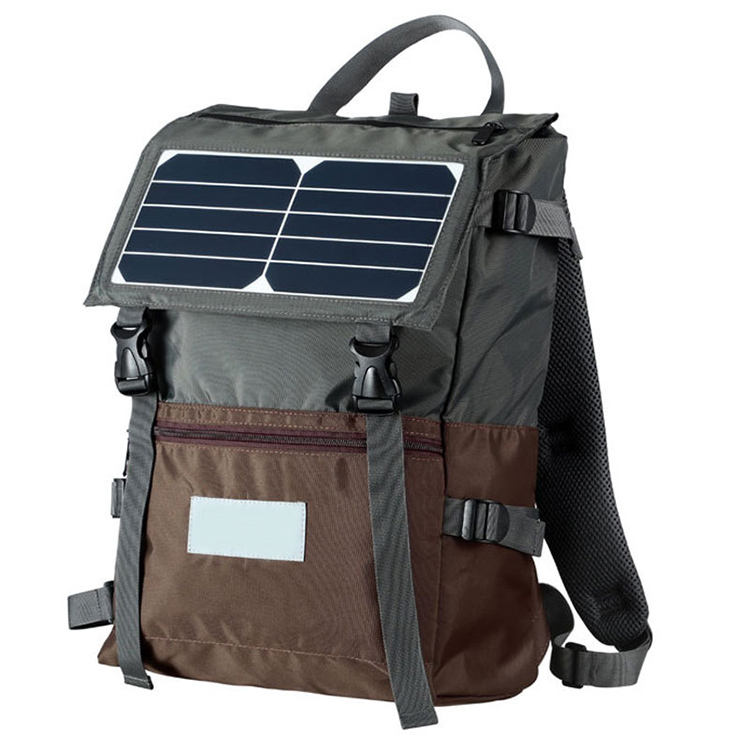 19SA-44336 15 years China supplier custom logo waterproof travel outdoor solar panel charger solar energy backpack