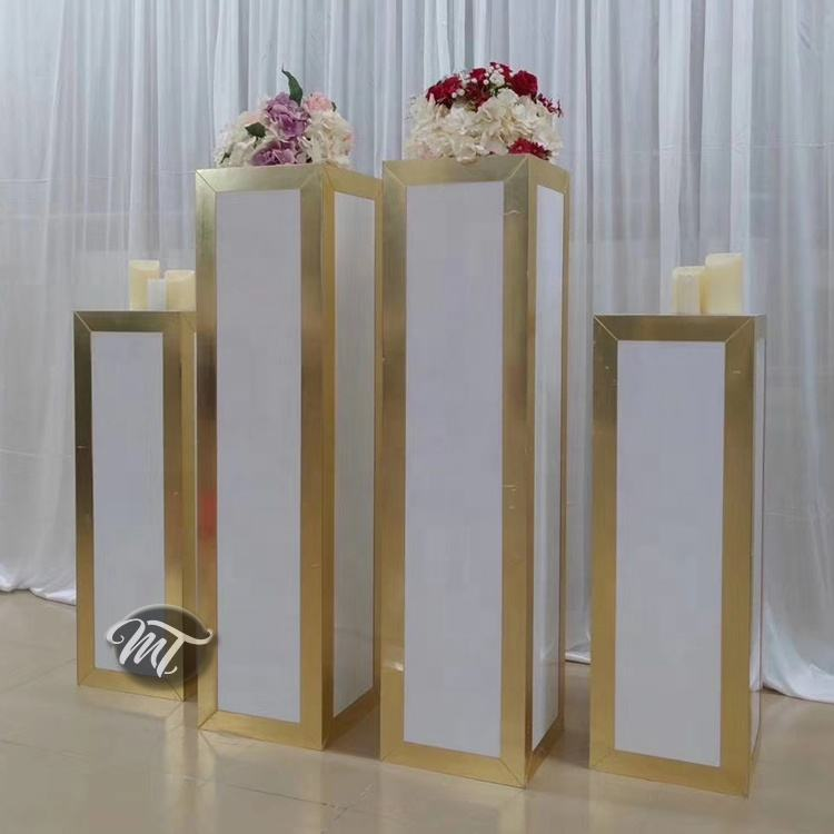 Wedding decoration pillars round square cake stand pedestal column