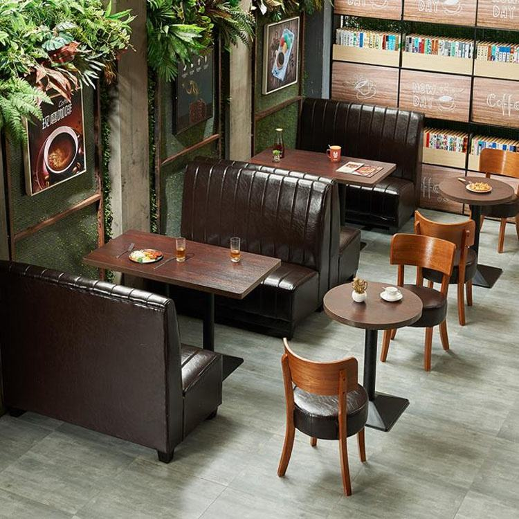restaurant furniture dining table and chair melamine or wood material