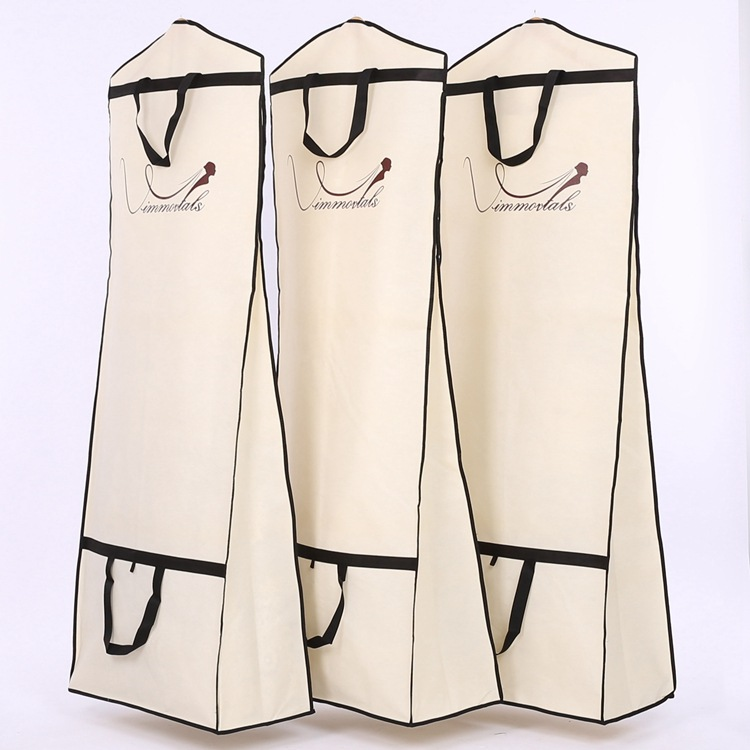 Customized Logo Fashion Wedding Gown Evening Dress suit garment bag Foldable Non-Woven luxury garment bag