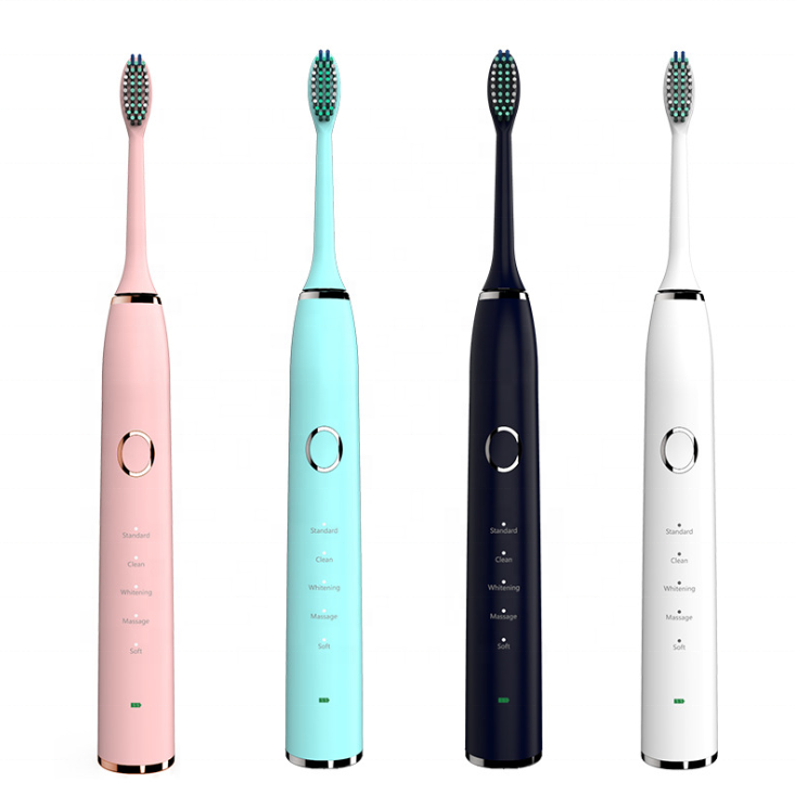 Wholesales Ecofriendly Soft Oral USB Rechargeable Ultrasonic Whitening Tooth brush Sonic Electric Smart Automatic Toothbrush