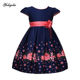 In stock kids clothing new model girls floral print dress