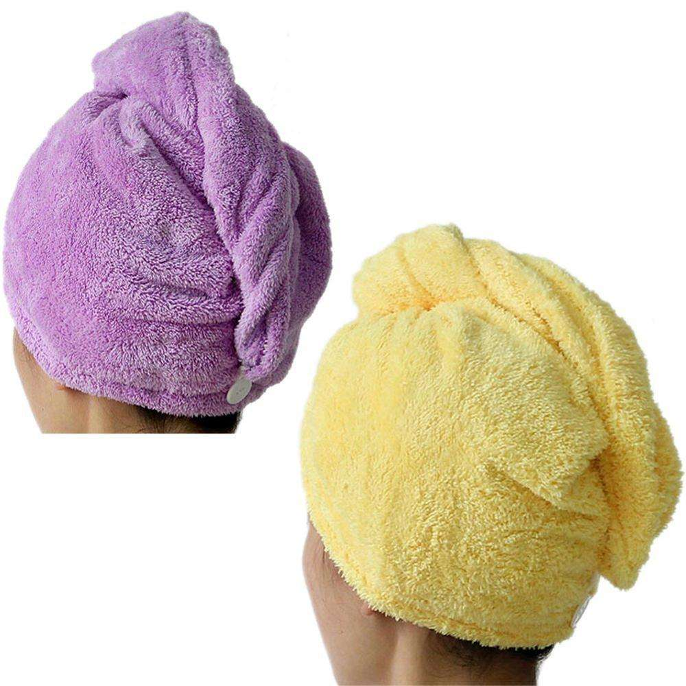 Cheaper wholesale soft and quick dry Hair Turban Towel Wrap Coral Fleece