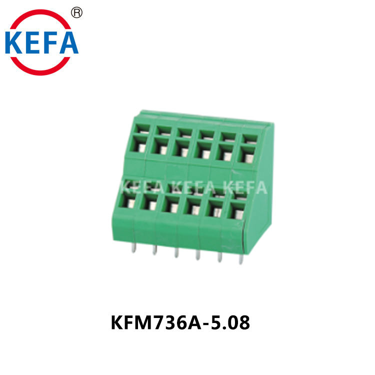 KFM736A-5.08 New Design Spring Connection Terminal Block Small Blocks For Power Electronics