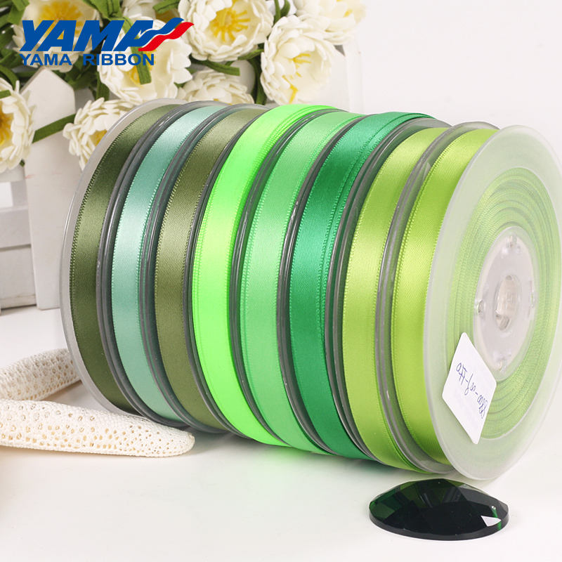 Yama factory stocked double faced/sided smooth satin mint green ribbon