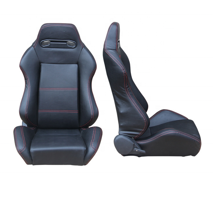 Universal and JDM Racing Sport Seats Reclinable Clothes/Blue Strip Left/Right Racing Bucket Seats Slider