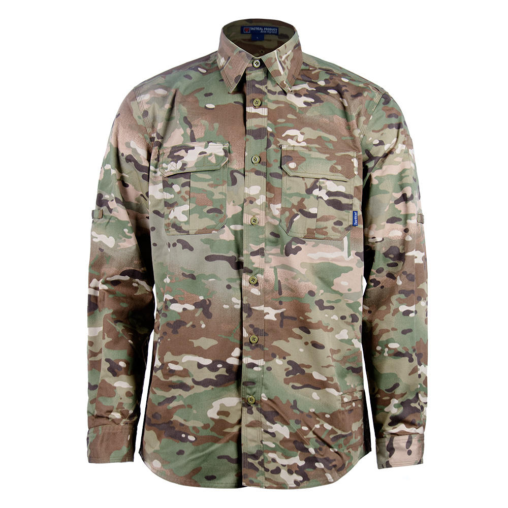 Camouflage Custom Made Military Dress Army Combat Shirt