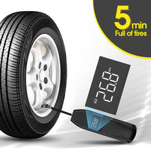 Wireless 12v mini car tyre electric portable air pump for car  air compressor 12v with LCD display for car tires inflators