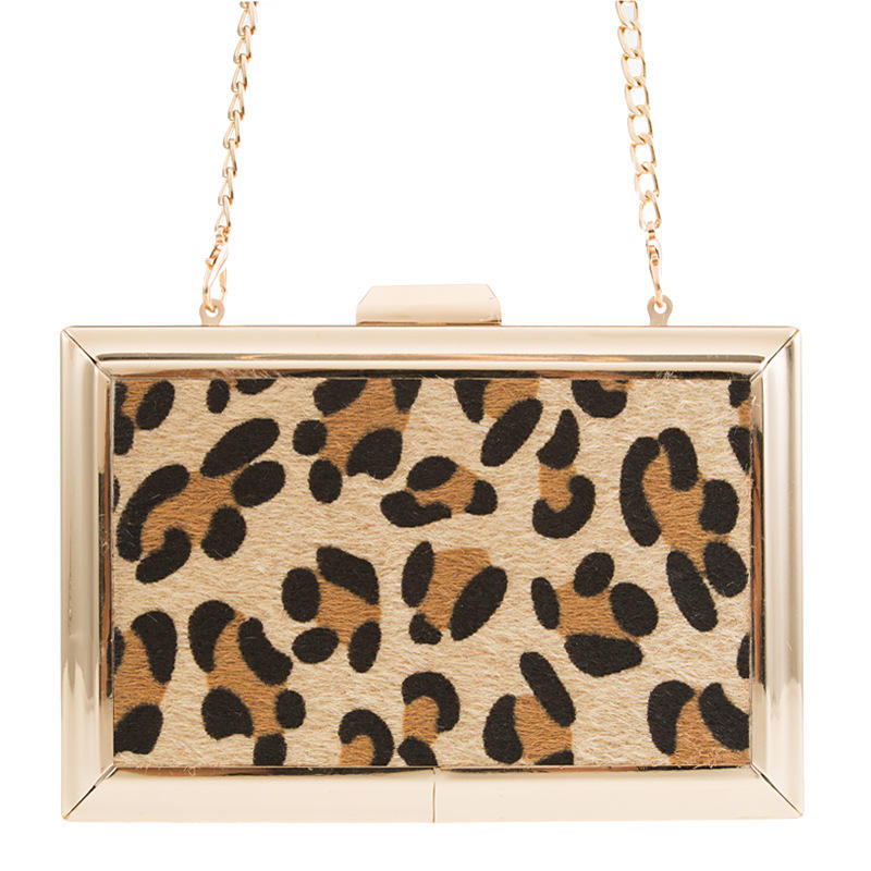 Hot 2019 Leopard ladies clutch Purse and Handbags Circle Day Clutch bag Full dress party Evening Clutch Bags