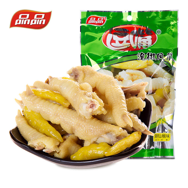 150g Products Chicken Feet with Pickled Peppers Chinese spicy snacks