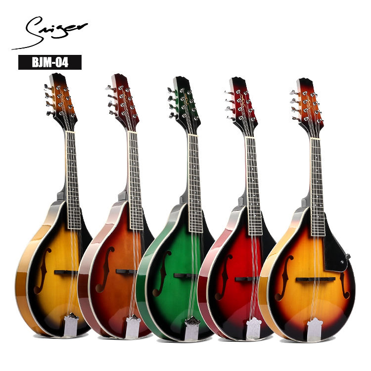 wholesale Arabia folk musical instruments DIY kit glossy colorful acoustic mandolin