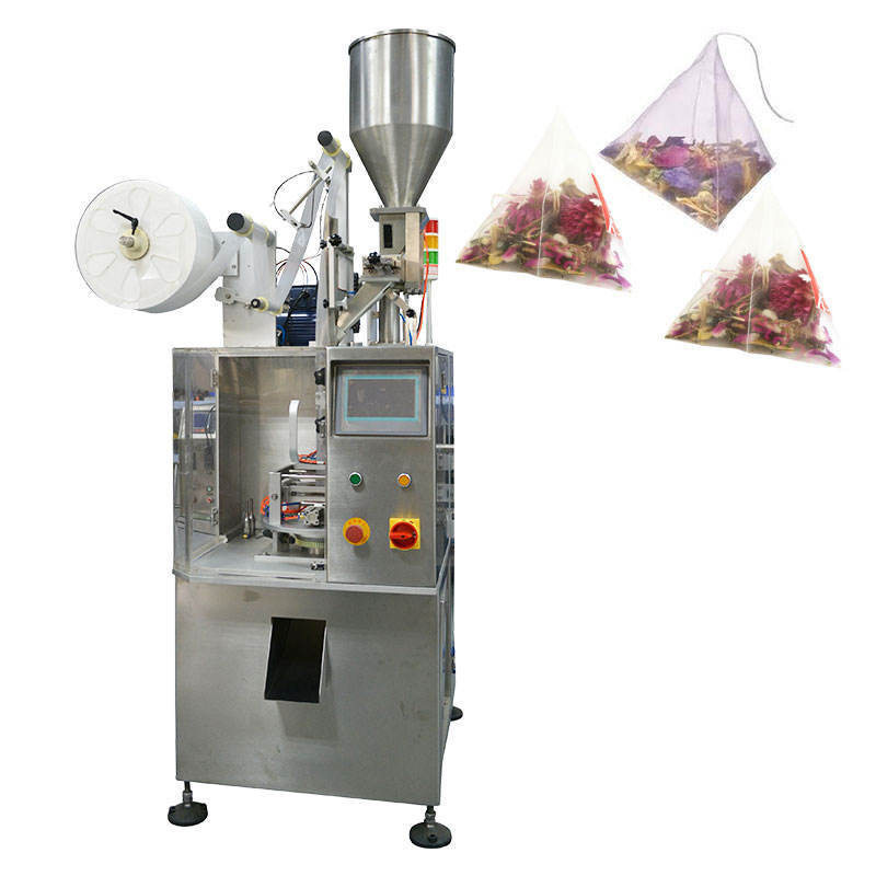 Pyramids tea/tea leaf bag making packing machine price for small business