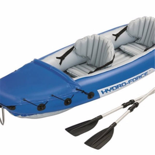Wholesale rowing boat hot selling 2 person kayak inflatable canoe for outdoor fishing water drift