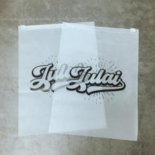 High Quality Plastic Matte/Frosted Biodegradable T Shirt Swimwear bra Clothing Packaging Zipper Bags With gold Logo