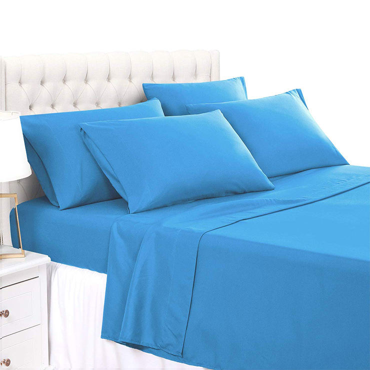 Bamboo 2200 series 80gsm Brushed Microfiber bed sheet branded 4pcs,6pcs