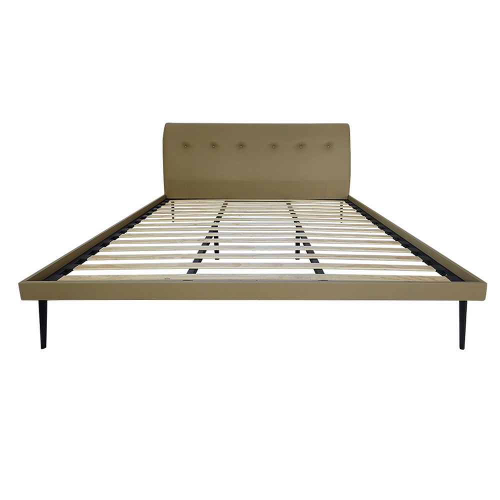 High Quality Modern King Size Metal Bed Platform Wood Base Para Cama For Sleeping