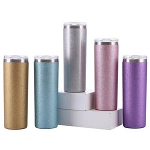 Skinny tumbler cups multicolor 20oz 600ml double walled vacuum insulated wholesale stainless steel tumbler with lids