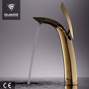 Luxury Brass Mixers Tall Washbasin Tap Gold Bathroom Basin Faucet
