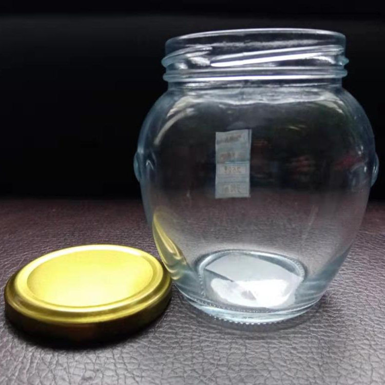 390ml Factory Supplier Hot Sale High Quality Wholesale Clear Ball Shape Mason glass Jar with lid for honey