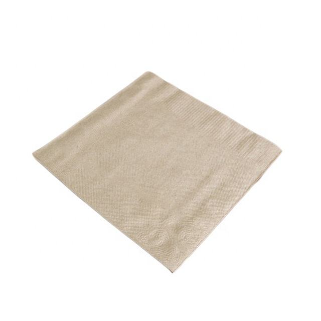 1 Pack Dark Brown Recycle 30*30CM Lunch Napkin