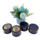 Round Customized 2/3/4 oz Candle Tin Jars Golden Black Packaging Box For Candle Making