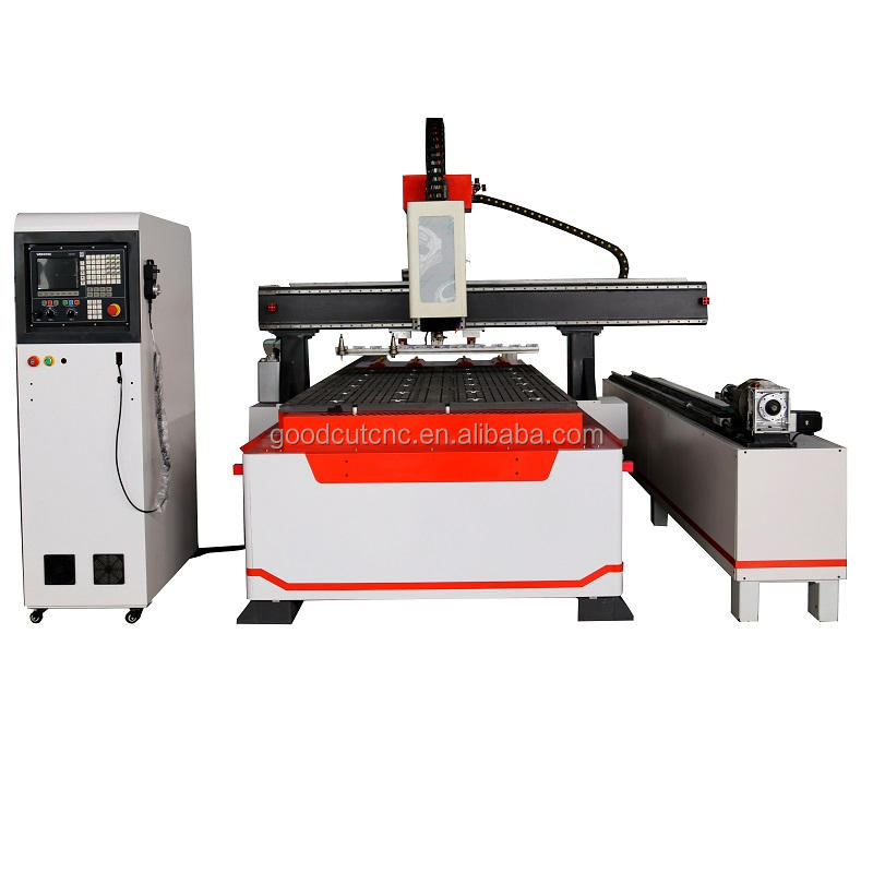wood dust cap atc cnc router with auto tool changer and T slot table