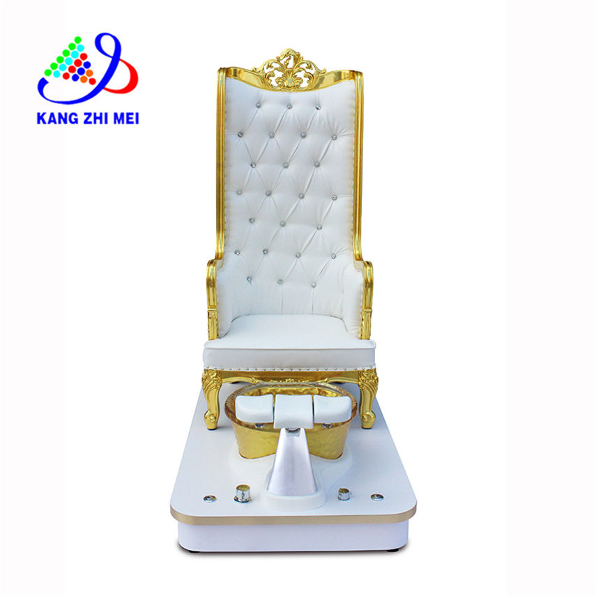 Luxury design King Throne pedicure chair with platform base sink
