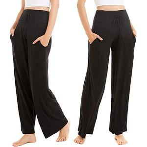 Pajama Pants for Women with Pockets - Printed Buttery Soft Wide Leg Palazzo Lounge Sleep Pants with Drawstring