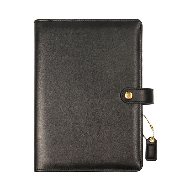 High quality custom design office business leather a4 6 ring binder notebook