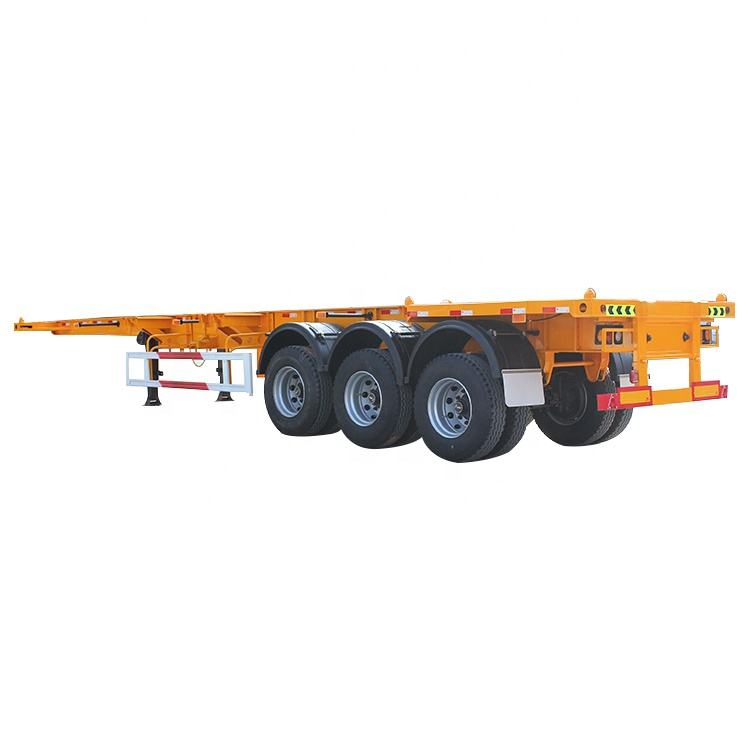 Model China Trailer Pabrik BIG SALE 3 Axle Kontainer 40ft Trailer Truk Chasis Skeleton Semi Trailer