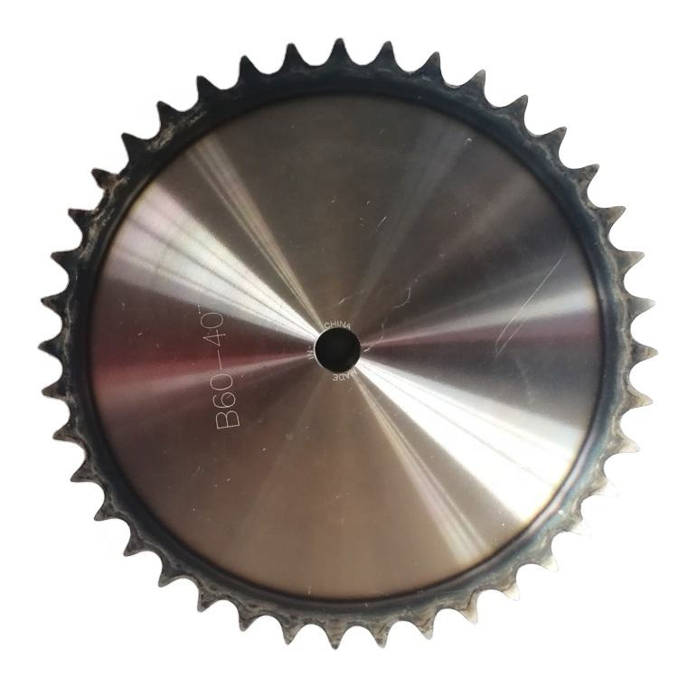 DIN/ISO standard simplex high frequency quenching industrial chain 40t stainless steel sprocket