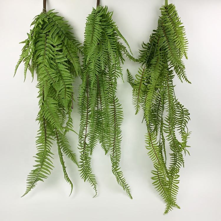 Hot selling Artificial Hanging Plant Green Grass Long Fern For Outdoor Decoration