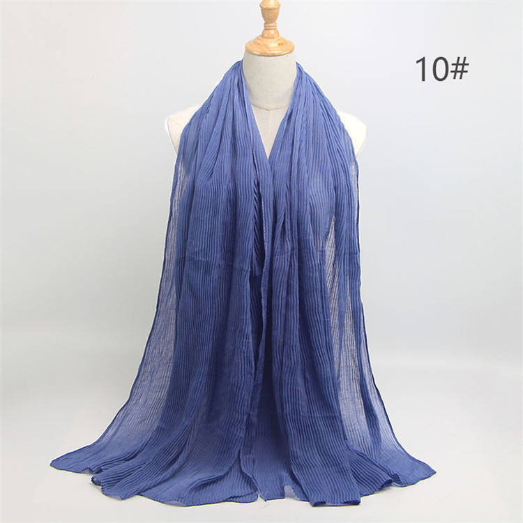 New Classic Design Muslim Women Hijab Accessories Pure Color Pearl Chiffon Hijab Malaysia